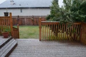 The start of the snow at our house last Monday, Sept. 8. This was the signal it was time to get out of town!