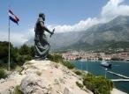 Makarska en Croatie - Statue de saint Pierre